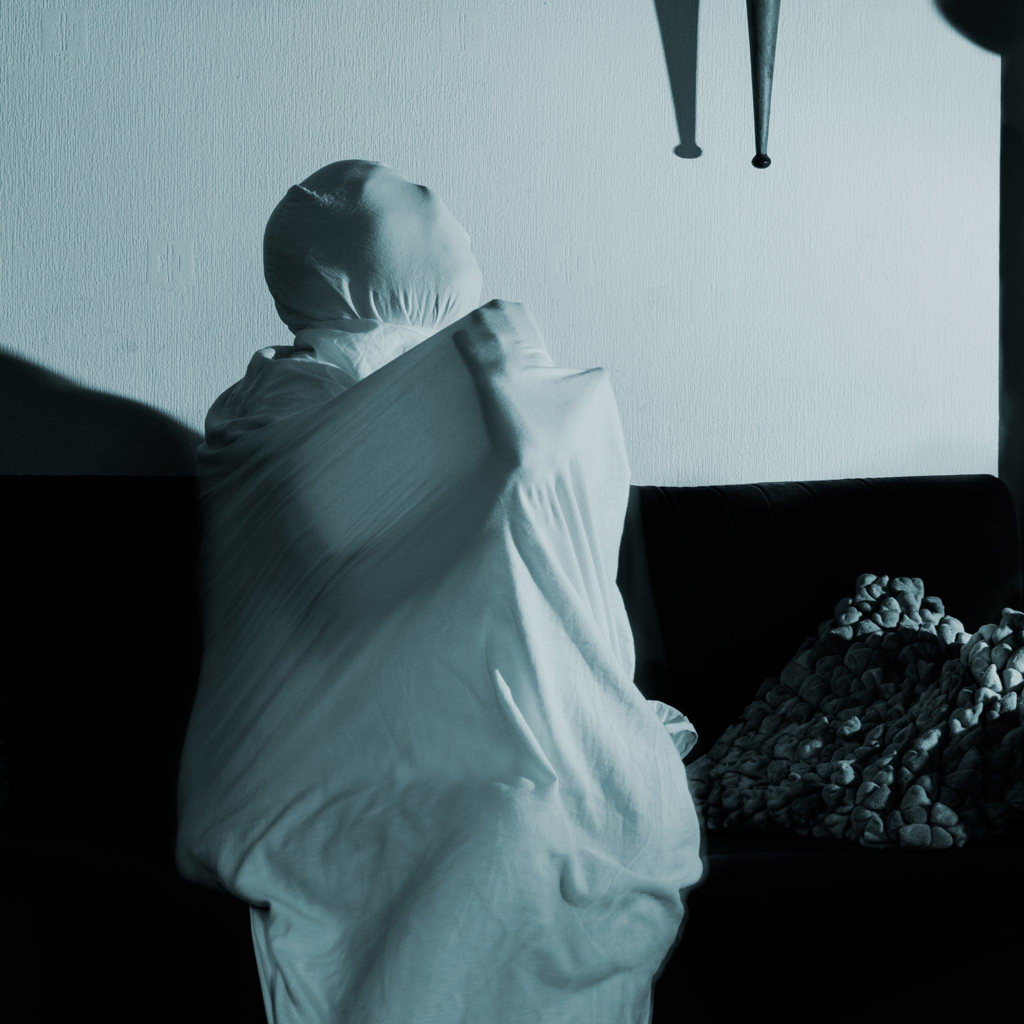 Verstikking - Depressie - Creatief portret - Zwart Wit